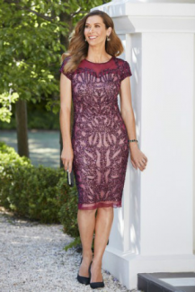 Eve Hunter collection, Style Code H5248, Short Dress: Wine Red, Full Beading, Sand Lining