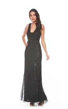 Zaliea collection, Style Code Z0082, Long sequin beaded/dress.