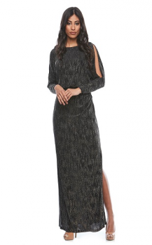 Zaliea collection, Style Code Z0158, Long stretch jersey dress with split sleeves